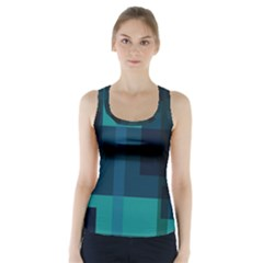Boxes Abstractly Racer Back Sports Top