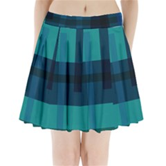 Boxes Abstractly Pleated Mini Skirt