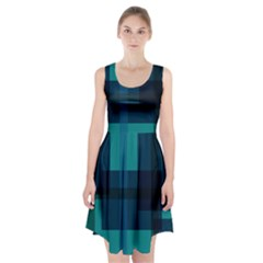 Boxes Abstractly Racerback Midi Dress