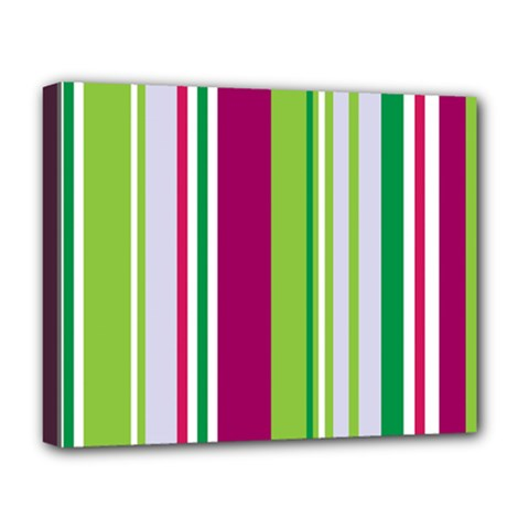 Beautiful Multi Colored Bright Stripes Pattern Wallpaper Background Deluxe Canvas 20  X 16