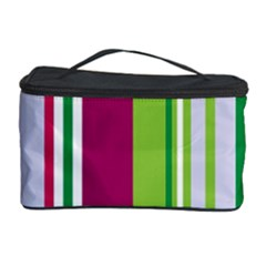 Beautiful Multi Colored Bright Stripes Pattern Wallpaper Background Cosmetic Storage Case
