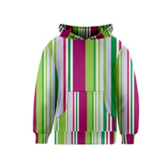 Beautiful Multi Colored Bright Stripes Pattern Wallpaper Background Kids  Pullover Hoodie