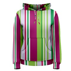 Beautiful Multi Colored Bright Stripes Pattern Wallpaper Background Women s Pullover Hoodie