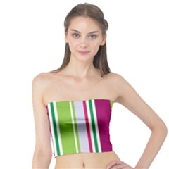 Beautiful Multi Colored Bright Stripes Pattern Wallpaper Background Tube Top