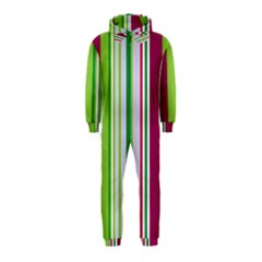 Beautiful Multi Colored Bright Stripes Pattern Wallpaper Background Hooded Jumpsuit (kids)