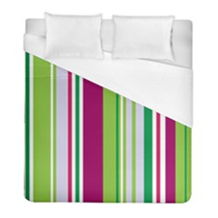 Beautiful Multi Colored Bright Stripes Pattern Wallpaper Background Duvet Cover (full/ Double Size)