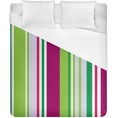 Beautiful Multi Colored Bright Stripes Pattern Wallpaper Background Duvet Cover (california King Size)