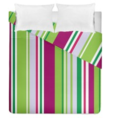 Beautiful Multi Colored Bright Stripes Pattern Wallpaper Background Duvet Cover Double Side (queen Size)