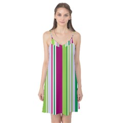 Beautiful Multi Colored Bright Stripes Pattern Wallpaper Background Camis Nightgown