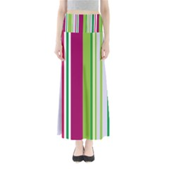 Beautiful Multi Colored Bright Stripes Pattern Wallpaper Background Maxi Skirts