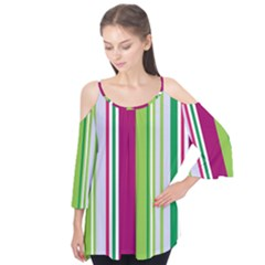 Beautiful Multi Colored Bright Stripes Pattern Wallpaper Background Flutter Tees