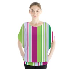 Beautiful Multi Colored Bright Stripes Pattern Wallpaper Background Blouse