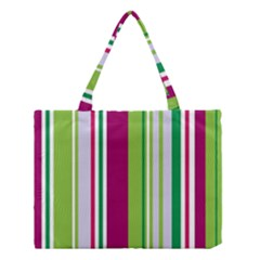 Beautiful Multi Colored Bright Stripes Pattern Wallpaper Background Medium Tote Bag