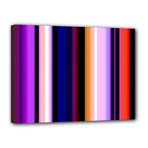 Fun Striped Background Design Pattern Canvas 16  x 12