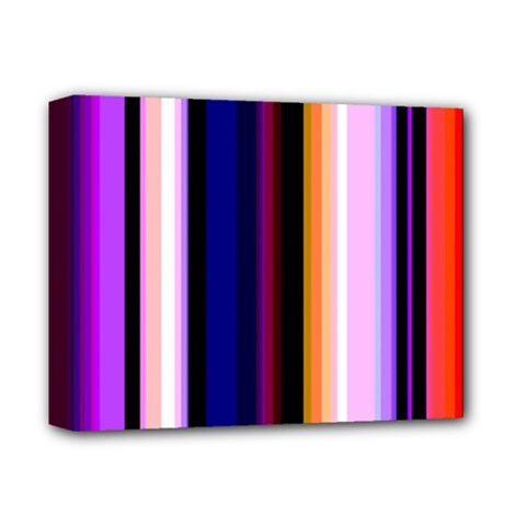 Fun Striped Background Design Pattern Deluxe Canvas 14  X 11