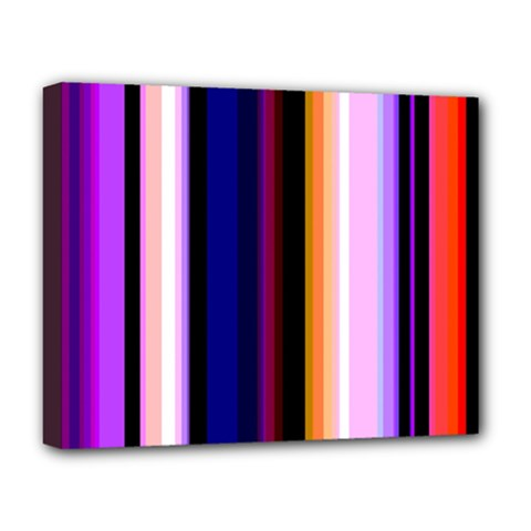 Fun Striped Background Design Pattern Deluxe Canvas 20  X 16