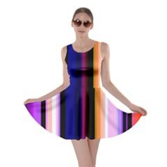 Fun Striped Background Design Pattern Skater Dress