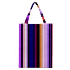 Fun Striped Background Design Pattern Classic Tote Bag