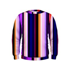 Fun Striped Background Design Pattern Kids  Sweatshirt