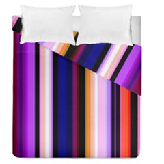 Fun Striped Background Design Pattern Duvet Cover Double Side (queen Size)