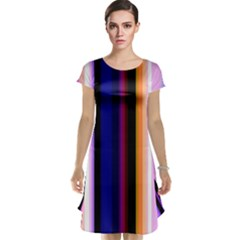Fun Striped Background Design Pattern Cap Sleeve Nightdress