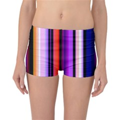 Fun Striped Background Design Pattern Reversible Bikini Bottoms