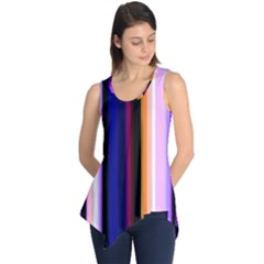 Fun Striped Background Design Pattern Sleeveless Tunic