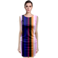 Fun Striped Background Design Pattern Classic Sleeveless Midi Dress