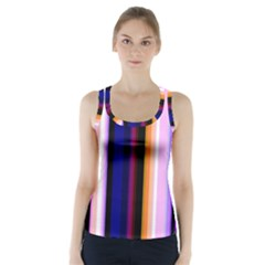 Fun Striped Background Design Pattern Racer Back Sports Top