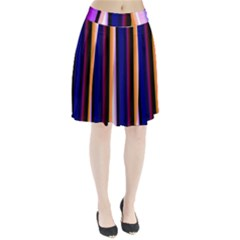 Fun Striped Background Design Pattern Pleated Skirt