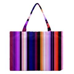Fun Striped Background Design Pattern Medium Tote Bag