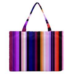 Fun Striped Background Design Pattern Medium Zipper Tote Bag