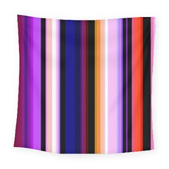 Fun Striped Background Design Pattern Square Tapestry (large)