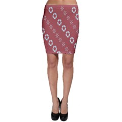Abstract Pattern Background Wallpaper In Pastel Shapes Bodycon Skirt