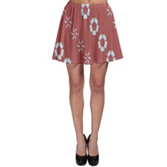 Abstract Pattern Background Wallpaper In Pastel Shapes Skater Skirt