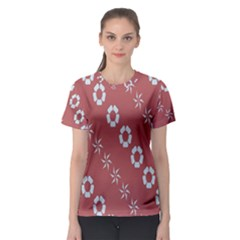 Abstract Pattern Background Wallpaper In Pastel Shapes Women s Sport Mesh Tee