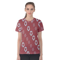 Abstract Pattern Background Wallpaper In Pastel Shapes Women s Cotton Tee