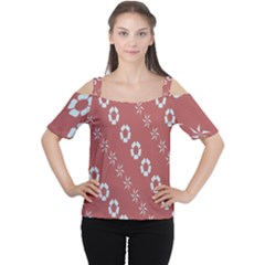 Abstract Pattern Background Wallpaper In Pastel Shapes Women s Cutout Shoulder Tee