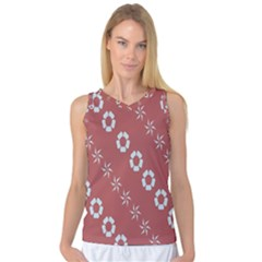 Abstract Pattern Background Wallpaper In Pastel Shapes Women s Basketball Tank Top