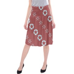 Abstract Pattern Background Wallpaper In Pastel Shapes Midi Beach Skirt