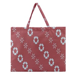 Abstract Pattern Background Wallpaper In Pastel Shapes Zipper Large Tote Bag