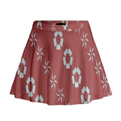 Abstract Pattern Background Wallpaper In Pastel Shapes Mini Flare Skirt