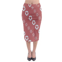 Abstract Pattern Background Wallpaper In Pastel Shapes Midi Pencil Skirt