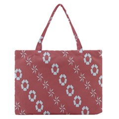 Abstract Pattern Background Wallpaper In Pastel Shapes Medium Zipper Tote Bag