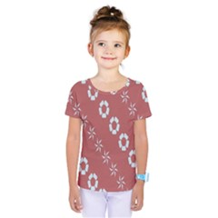 Abstract Pattern Background Wallpaper In Pastel Shapes Kids  One Piece Tee