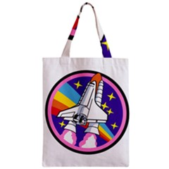 Badge Patch Pink Rainbow Rocket Classic Tote Bag