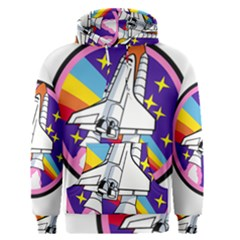 Badge Patch Pink Rainbow Rocket Men s Pullover Hoodie