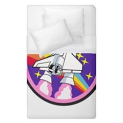 Badge Patch Pink Rainbow Rocket Duvet Cover (single Size)