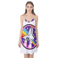 Badge Patch Pink Rainbow Rocket Camis Nightgown