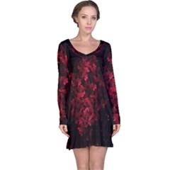 Background Scrapbooking Paper Long Sleeve Nightdress